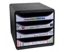 Bigbox 4 tiroirs personnalisable - EXACOMPTA