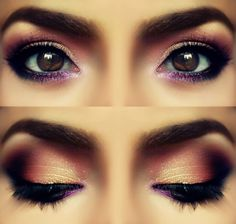 This rosy purple smokey eye is super flattering on dark brown eyes. This look is perfect for date night. I dont wear make up, but when i do, my eyes look lighter Kiss Makeup, Prom Makeup, Love Makeup, Beauty Makeup, Makeup Looks, Hair Makeup, Hair Beauty, Makeup Eyes, Purple Makeup