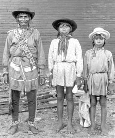 Chief Tallahassee and his son Tommie Tiger, and friend. Florida, 1882.