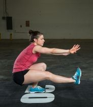 One-legged squat, bottom position. Julie Foucher. #CrossFit
