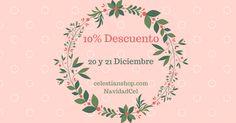 Hoy y mañana todas las colecciones con un 10% de dto introduciendo el código: NavidadCel! http://ift.tt/1YjIbca #regalos #navidad #buenosdias #papanoel #pinterest