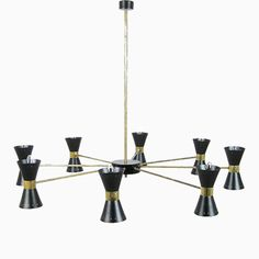 Mid-Century Messing Deckenlampe mit 16 Leuchten Jetzt bestellen unter: https://moebel.ladendirekt.de/lampen/deckenleuchten/deckenlampen/?uid=8ea16525-afe4-53fa-8f98-befb72f11d1e&utm_source=pinterest&utm_medium=pin&utm_campaign=boards #deckenleuchten #lampen #deckenlampen