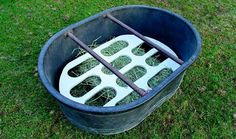 For Mark to make Horse Slow Feeder, Hay Feeder, Health Heal, Horse Tips, Horse Care, Barn, Horses, Horse Stuff, Stables