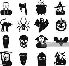 Clipart vectoriel : Halloween icons