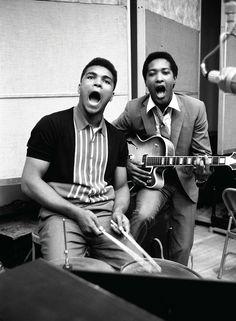 Sam Coocke and Muhammad Ali