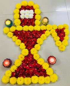 Lord shivling made of beautiful flowers