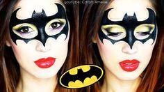 -Batgirl Makeup -Bat Woman Makeup -Halloween Makeup 2015 -Youtube - Carah Amelie - https://www.youtube.com/watch?v=EbigHt_LTOw