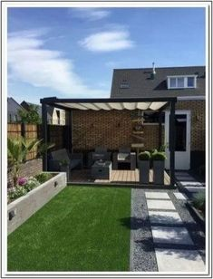 backyard porch ideas on a budget patio makeover outdoor spaces best of i like this open layout like the pergola over the table grill 38 ~ mantulgan.me garden design layout Easy Backyard, Backyard Design, Patio Makeover, Terrace Design, Patio Design, Contemporary Garden Design