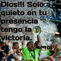Dios!!! Solo quieto en tu presencia tengo la victoria.