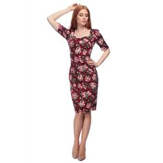 Dolores Half Sleeve Bloom Pencil Dress Collectif Vintage Clothes Dresses @ Collectif and Vintage Style Clothing and Rockabilly Collection Warm Dresses, Pin Up Dresses, Dress Outfits, Dresses For Work, Formal Dresses, Vintage Outfits, Retro Outfits, Vintage Dresses, Vintage Pencil Dress