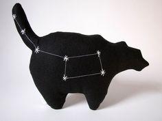 Ursa Minor Constellation- The Little Bear in Black. $34.00, via Etsy.