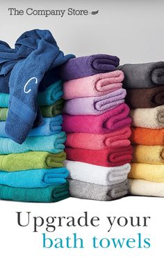 Made with combed Turkish cotton, these lush bath towels are crafted for lasting softness and absorbency. Choose from two dozen colors–mix, match, and experiment with tonal layering. Get these bathroom towels, available exclusively at The Company Store.