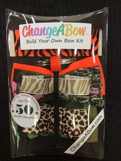 $2 OFF promo code: pinmybow2 Pink Camo, Neon Hunter's Orange, Animal print Make Your Own Softball Bow with actual professional softball league softball laces www.changeabow.com