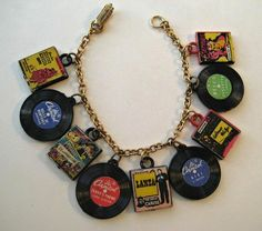 vintage Capitol Records charm bracelet, promotional item early 1950's