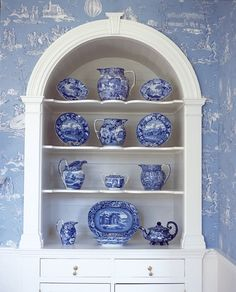 Michael Whaley Toile & Transferware Hydrangea Hill Cottage: Something Blue. Blue And White China, Blue China, Welcome To My House, White Cottage, Cottage Style, Blue Pottery, Interior Decorating, Interior Design, Romantic Homes