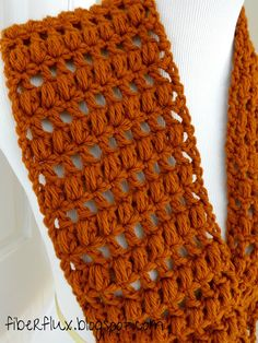 Free Crochet Pattern for Ginger Snap Infinity Scarf by Fiber Flux