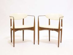 """Pair of Dan Johnson """"Viscount"""" chairs by Selig 