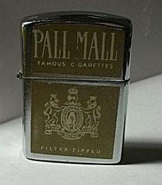 VINTAGE 1960`S S.M.C. PALL MALL CIGARETTE LIGHTER. Click on the image for more information.