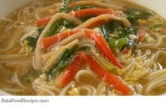 A delightful crabmeat and spinach noodles. Show off with this recipe.