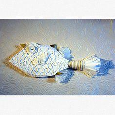 Trunk Fish - paper sculpture by C.J. Adams