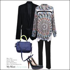 Blazer: #AnnDemeulemeester Bluse: #Etro Tasche: #Marcjacobs Hose: #MichaelKors Schuhe: #Prada #mymint