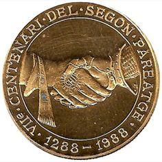 Moneda de oro 250 Diners Andorra 1988. Estuche.