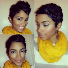 Cute pixie cut - Really Cute Cut.  Top Left is the Style i would Go for.