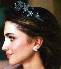 Tiara Mania: Emerald Ivy Tiara worn by Queen Rania of Jordan