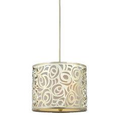 gold pendant light - potato print this on a lamp shade.
