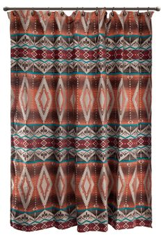 Brown Shower Curtain W Fringe