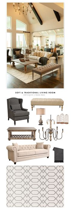 Copy Cat Chic Room Redo | Soft & Traditional Living Room | | Copy Cat Chic | chic for cheap | Bloglovin' | www.bocadolobo.com/ #livingroomideas #livingroomdecor