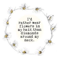 Flower crown quote