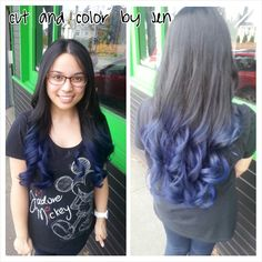 Blue ombre using Pravana Vivids  Hair by Jen Cleroux  B-Bombshell Salon New Westminster, BC Where Geek is Chic!