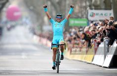 Alexey Lutsenko of Kazakhstan and the Astana Pro Team celebrates winning Stage 5 of the 2016 Paris-Nice, a 198km road stage from Saint-Paul-Trois-Chateaux to Salon-de-Provence on March 11, 2016 in Salon-de-Provence, France.  ‪#‎ParisNice‬ #rm_112