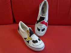 Punk rock style hand painted shoes