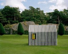 Designed by Swedish architect Mattias Lind of the firm White Arkitekter, the cabin was commissioned by a local printing firm to show off the goods—in this case, mainly the sturdy corrugated paper with which the the hut was built. Cabinet D Architecture, Architecture Design, Innovative Architecture, Contemporary Architecture, Landscape Architecture, Shed Cabin, Cabin Design, House Made, Shed Plans
