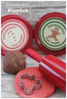 Made the peppermint Playdoh for class for Christmas. How to Make Playdoh (Gingerbread and peppermint recipes included)  Free printable labels too!
