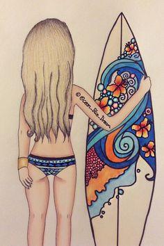 Ocean_Blue_Dream surfer girl