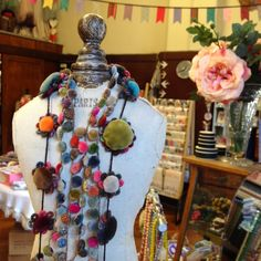 New and absolutely divine Sophie Digard beautifully hand crafted scarves and accessories have arrived at l'uccello.   Gorgeous embroidery...