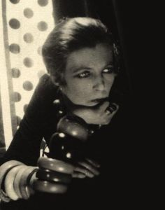 Nancy Cunard (1896 – 1965) was a writer, heiress and political activist. She was born into the British upper class and devoted much of her life to fighting racism and fascism. She became a muse to some of the 20th century's most distinguished writers and artists, including Aldous Huxley, Tristan Tzara, Ezra Pound and Louis Aragon, who were among her lovers, Ernest Hemingway, James Joyce, Constantin Brâncuși, Langston Hughes, Man Ray, and William Carlos Williams.