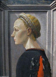 'portrait d'un dame' de Paolo Uccello (1397-1475, Italy)