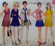 60s Vintage ALine Skirt Mini Dress Sewing Pattern by stumbleupon, $7.95