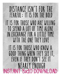 Distance... not for the faint of heart