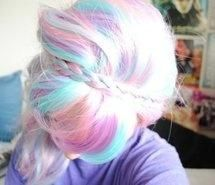 cotton candy color hair and braid