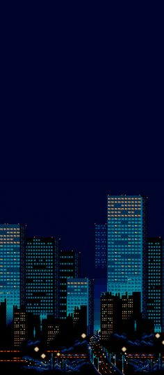 Streets of Rage city background. Great use of color. #pixelart