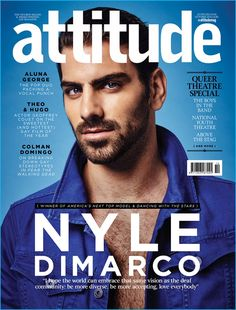 Nyle DiMarco covers the October 2016 issue of Attitude magazine.