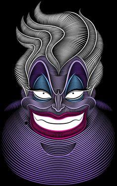 ~ † Art Of Ursula † Made By Patrick Seymour On Behance ~ Dark Disney, Disney Love, Disney Magic, Disney Art, Ursula Disney, Patrick Seymour, Disney And Dreamworks, Disney Pixar, Twisted Disney