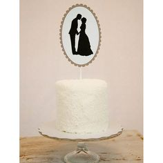 Custom Silhouette Cake Topper from @Simply  Silhouettes