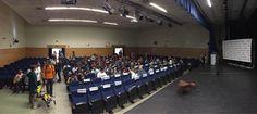 El auditorio de la Casa del Reloj comienza a llenarse para la primera charla de las Jornadas de Grandes Viajes #JGVmad