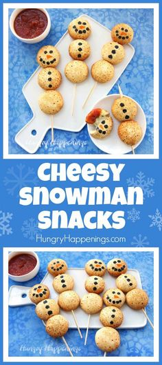 You won't believe how easy it is to make these adorable Cheesy Snowman Snacks using Farm Rich™️ Mozzarella Bites. The whole family will love these savory holiday treats.